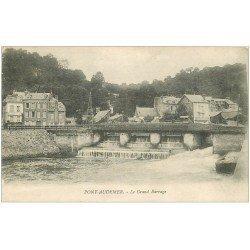 carte postale ancienne 27 PONT-AUDEMER. Le Barrage 1918