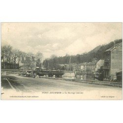 carte postale ancienne 27 PONT-AUDEMER. Le Barrage en amont