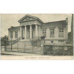 carte postale ancienne 27 PONT-AUDEMER. Le Palais de Justice 1918