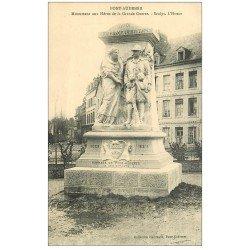 carte postale ancienne 27 PONT-AUDEMER. Monument Héros Grande Guerre