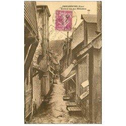 carte postale ancienne 27 PONT-AUDEMER. Rivière Rue aux Pâtissiers 1937