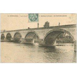 carte postale ancienne 27 PONT-DE-L'ARCHE. Le Pont vers 1907