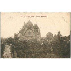 carte postale ancienne 27 PONT-DE-L'ARCHE. L'Eglise façade
