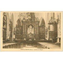carte postale ancienne 27 PONT-DE-L'ARCHE. L'Eglise intérieur