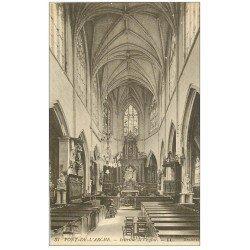 carte postale ancienne 27 PONT-DE-L'ARCHE. L'Eglise intérieur 37