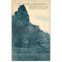 carte postale ancienne 08 HAUTES-RIVIERES. Roche du Saint-Thibault. Semoy