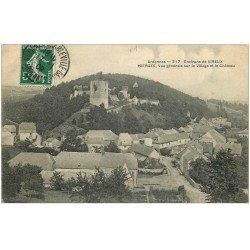 carte postale ancienne 08 HIERGES. Village et Château 1909