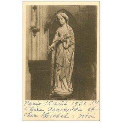 carte postale ancienne 27 VERNEUIL-SUR-AVRE. Eglise Notre-Dame. Sainte-Geneviève