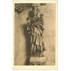 carte postale ancienne 27 VERNEUIL-SUR-AVRE. Eglise Notre-Dame. Vierge au Fruit