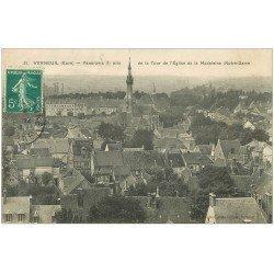 carte postale ancienne 27 VERNEUIL-SUR-AVRE. Panorama 1910