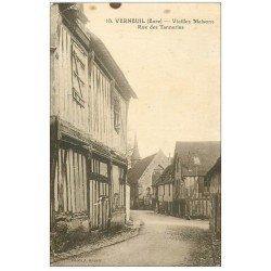 carte postale ancienne 27 VERNEUIL-SUR-AVRE. Rue des Tanneries