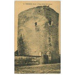 carte postale ancienne 27 VERNEUIL-SUR-AVRE. Tour Grise