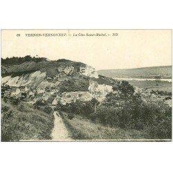 carte postale ancienne 27 VERNON. Côte Saint-Michel 1932