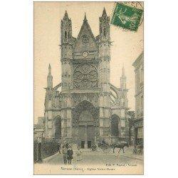 carte postale ancienne 27 VERNON. Eglise Notre-Dame 1912