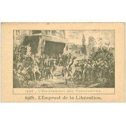 carte postale ancienne 27 VERNON. Enrôlement des Volontaires Emprunt de la Libération 1923