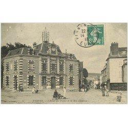 carte postale ancienne 27 VERNON. Hôtel des Postes Rue Albuféra 1912