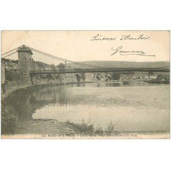carte postale ancienne 08 LAVAL-DIEU. La Basse-Rowa et le Pont 1904