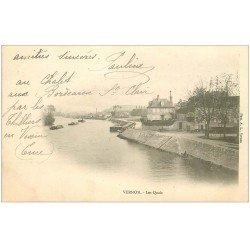 carte postale ancienne 27 VERNON. Les Quais 1903
