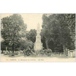 carte postale ancienne 27 VERNON. Monument de l'Ardèche 80