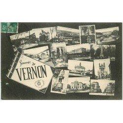 carte postale ancienne 27 VERNON. Multivues 1911