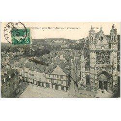 carte postale ancienne 27 VERNON. Notre-Dame et Vernonnet 1907