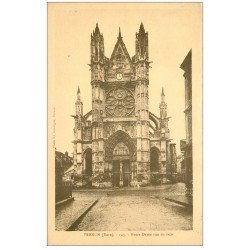carte postale ancienne 27 VERNON. Notre-Dame vu de face