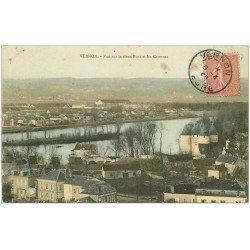 carte postale ancienne 27 VERNON. Pont et Casernes 1905