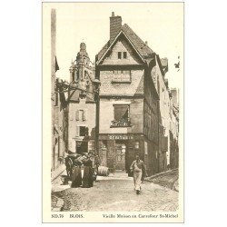 carte postale ancienne 41 BLOIS. Cave à Vins Carrefour Saint-Michel