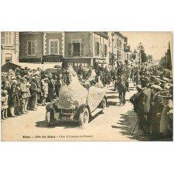 carte postale ancienne 41 BLOIS. Char d'Ouzouer-le-Marché. Fêtes des Reines avec Hussards