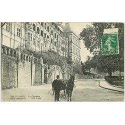 carte postale ancienne 41 BLOIS. Château et attelage 1914