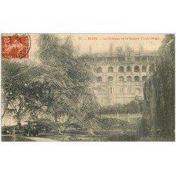 carte postale ancienne 41 BLOIS. Château et Square Victor-Hugo 1911