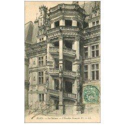 carte postale ancienne 41 BLOIS. Château. Escalier François I° 1907