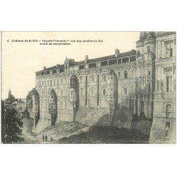 carte postale ancienne 41 BLOIS. Château. Façade avant restauration