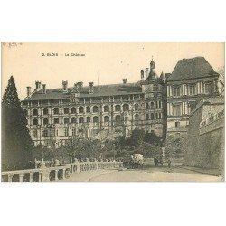 carte postale ancienne 41 BLOIS. Château. Façade et Attelage