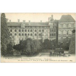 carte postale ancienne 41 BLOIS. Château. Façade Tramway n°8