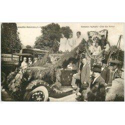 carte postale ancienne 41 LAMOTTE-BEUVRON. Concours Agricole Char des Reines