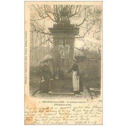 carte postale ancienne 02 BRUYERES-SOUS-LAON. La Fontaine minérale 1903. Edition Bergeret