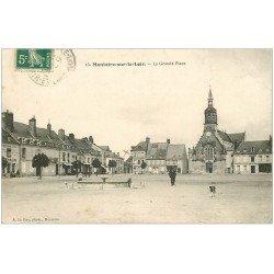 carte postale ancienne 41 MONTOIRE. Grande Place 1910