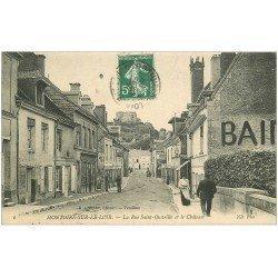 carte postale ancienne 41 MONTOIRE. Rue Saint-Oustrille et Château