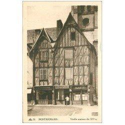 carte postale ancienne 41 MONTRICHARD. Café et Pâtisserie