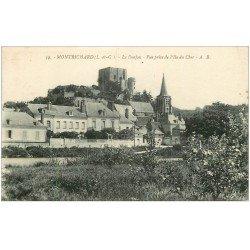 carte postale ancienne 41 MONTRICHARD. Le Donjon 1927