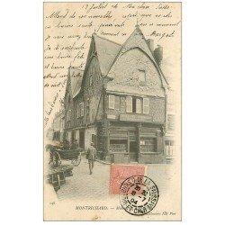 carte postale ancienne 41 MONTRICHARD. Serrurier Guitton Bruneau 1904