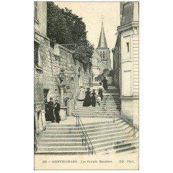 carte postale ancienne 41 MONTRICHARD. Les Grands Escaliers
