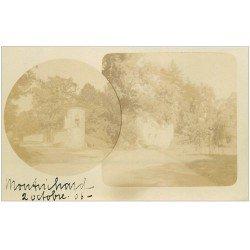 carte postale ancienne 41 MONTRICHARD. Rare 1906 Carte Photo Tourelle et Enceinte d'un Parc