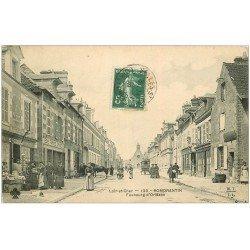 carte postale ancienne 41 ROMORANTIN. Faubourg d'Orléans 1908 Tabac Cartes Postales Renault Gidon
