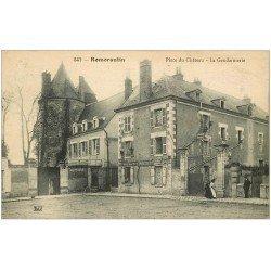 carte postale ancienne 41 ROMORANTIN. Gendarmerie Place du Château 1919. Tampon Hospice