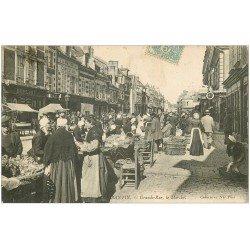 carte postale ancienne 41 ROMORANTIN. Le Marché Grande-Rue 1906