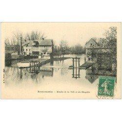 carte postale ancienne 41 ROMORANTIN. Moulin de la Ville et du Chapitre 1911