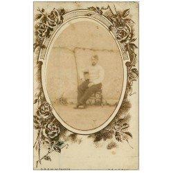 carte postale ancienne 41 ROMORANTIN. Rare Carte Photo d'un poilu Militaire 1906
