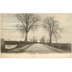 carte postale ancienne 41 SALBRIS. Avenue des Ponts 1917